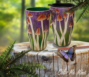 Pasadena Mushroom Mugs