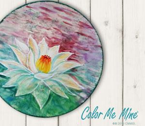 Pasadena Lotus Flower Plate